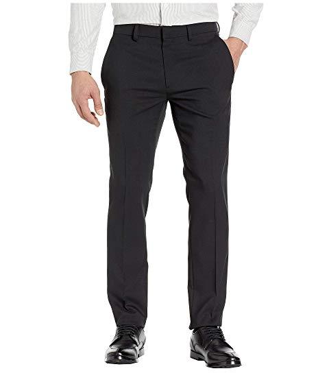 KENNETH COLE REACTION ヘザー スリム ドレス メンズファッション ズボン パンツ メンズ 【 Stretch Heather Tic Slim Fit Dress Pants 】 Black