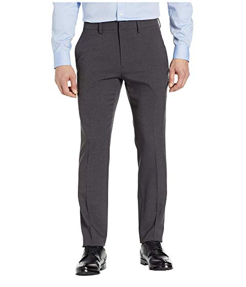 KENNETH COLE REACTION ヘザー スリム ドレス チャコール 【 HEATHER SLIM KENNETH COLE REACTION STRETCH TIC FIT DRESS PANTS CHARCOAL 】 メンズファッション ズボン パンツ