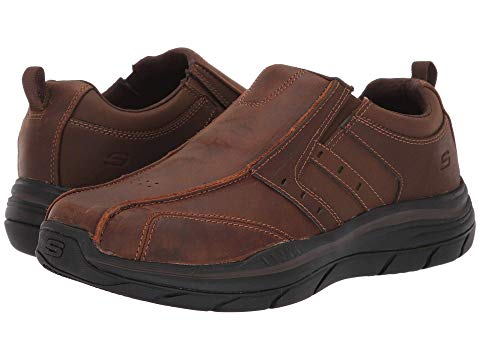 SKECHERS スケッチャーズ 茶 ブラウン 2.0 【 BROWN SKECHERS RELAXED FIT EXPECTED WILDON DARK 】 メンズ