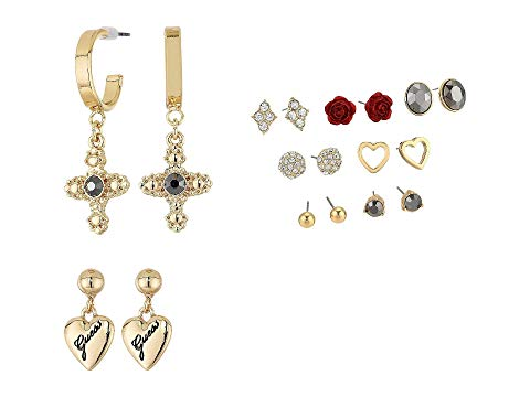 GUESS 【 9PAIR MIXED STUD EARRINGS SET GOLD 】 ジュエリー アクセサリー レディースジュエリー 送料無料