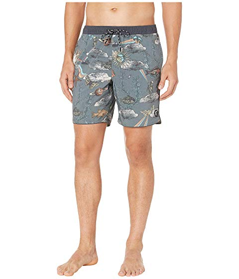 O'NEILL 【 TRIPPIN VOLLEY CRUZER BOARDSHORTS GRAPHITE 】 メンズファッション 水着 送料無料
