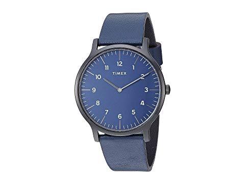 TIMEX タイメックス 黒 ブラック 青 ブルー 【 BLACK BLUE TIMEX 40 MM NORWAY 3HAND 】 腕時計 メンズ腕時計