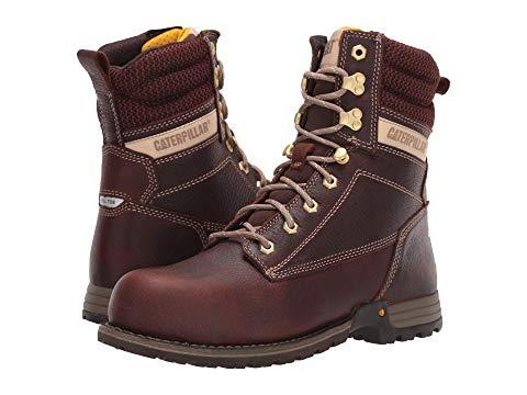 """キャタピラー CATERPILLAR 銀色 スチール 8"""" レディース 【 Clover 8"""" Steel Toe 】 Tawny Full Grain Leather"""
