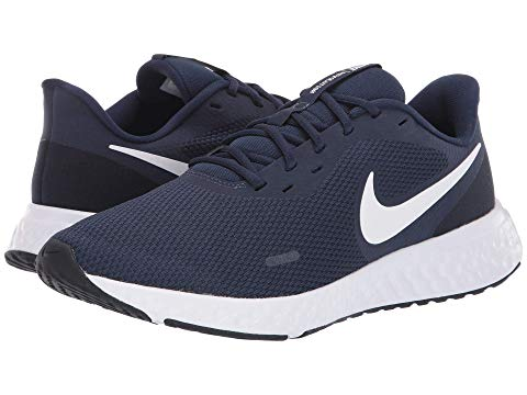 ナイキ NIKE スニーカー メンズ 【 Revolution 5 】 Midnight Navy/white/dark Obsidian