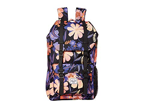 HERSCHEL SUPPLY CO. KIDS 子供用 キッズ ベビー マタニティ バッグ ランドセル ジュニア 【 Little America Youth (youth) 】 Night Floral Black