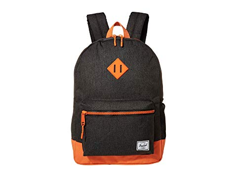 HERSCHEL SUPPLY CO. KIDS 子供用 バックパック バッグ リュックサック キッズ ベビー マタニティ ランドセル ジュニア 【 Heritage Youth Xl Backpack (youth) 】 Black Crosshatch/firecracker
