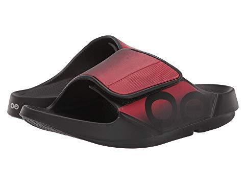 OOFOS スニーカー メンズ ユニセックス 【 Ooahh Sport Flex 】 Black/red