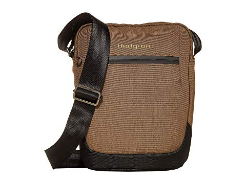 "HEDGREN 10"" バッグ メンズ 【 10"" Fleet Vertical Crossbody 】 Beech Khaki"