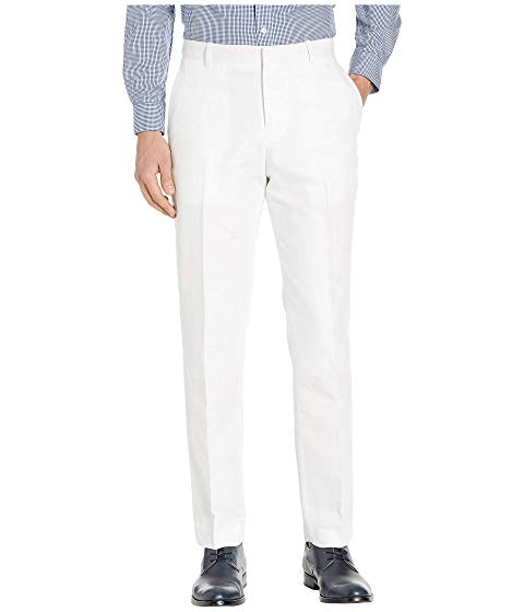 PERRY ELLIS PORTFOLIO モダン ドレス 【 MODERN FIT LINEN DRESS PANTS BRIGHT WHITE 】 メンズファッション ズボン パンツ 送料無料