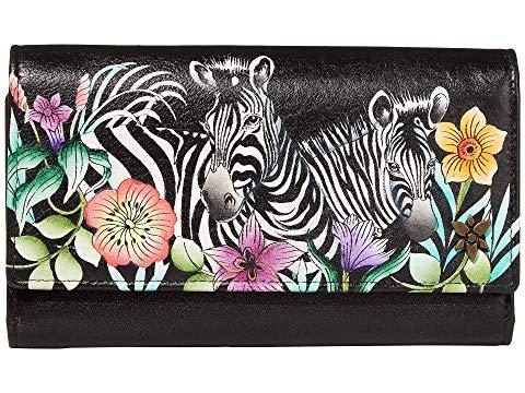 アヌシュカハンドバッグ ANUSCHKA HANDBAGS ウォレット 財布 バッグ レディース 【 Triple Fold Rfid Clutch Wallet - 1150 】 Playful Zebras