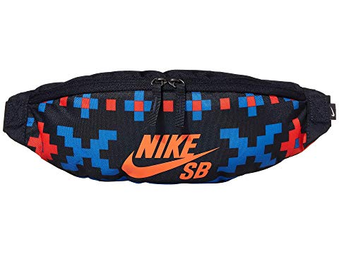 ナイキ NIKE エスビー バッグ ユニセックス 【 Sb Heritage Hip Pack - All Over Print 1 】 Dark Obsidian/bright Crimson