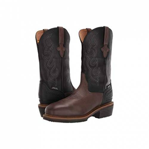 """LUCCHESE ブーツ 銀色 スチール 12"""" スニーカー メンズ 【 12"""" Welted Western Work Boot - Steel Toe And Waterproof 】 Mocha/black"""