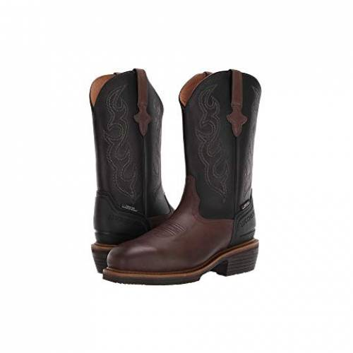 """LUCCHESE ブーツ 銀色 スチール 12"""" スニーカー メンズ 【 12"""" Welted Western Work Boot - Steel Toe 】 Mocha/black"""