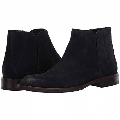 JOHN VARVATOS 黒 ブラック スニーカー 【 BLACK JOHN VARVATOS WAVERLY COVERED CHELSEA 2 】 メンズ スニーカー
