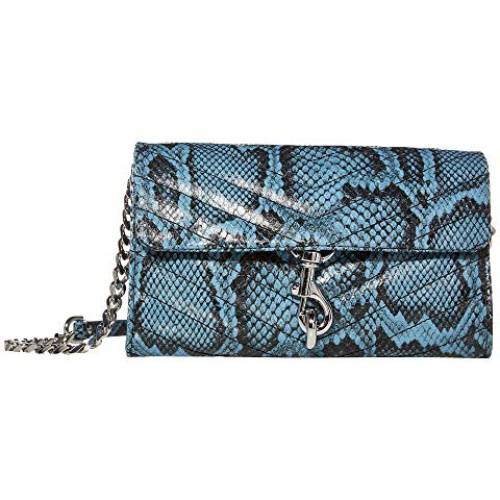 REBECCA MINKOFF ウォレット 財布 バッグ レディース 【 Edie Wallet On Chain 】 Cement Blue