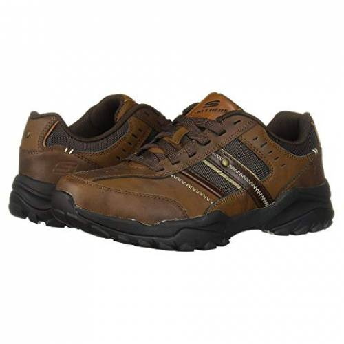 SKECHERS スニーカー メンズ 【 Relaxed Fit Henrick - Delwood 】 Dark Brown