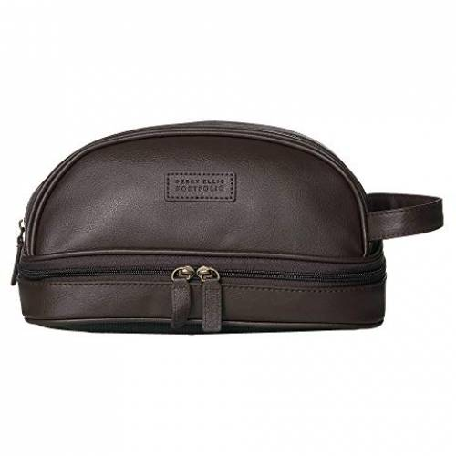 PERRY ELLIS PORTFOLIO ケース バッグ メンズ 【 Pebble Travel Case 】 Brown