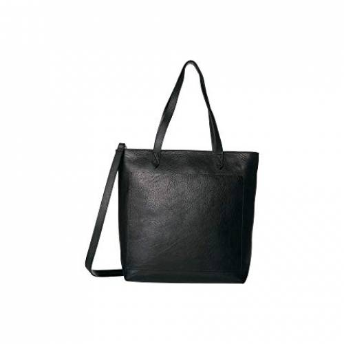 MADEWELL バッグ レディース 【 The Medium Transport Tote W/ Inset Zipper 】 True Black