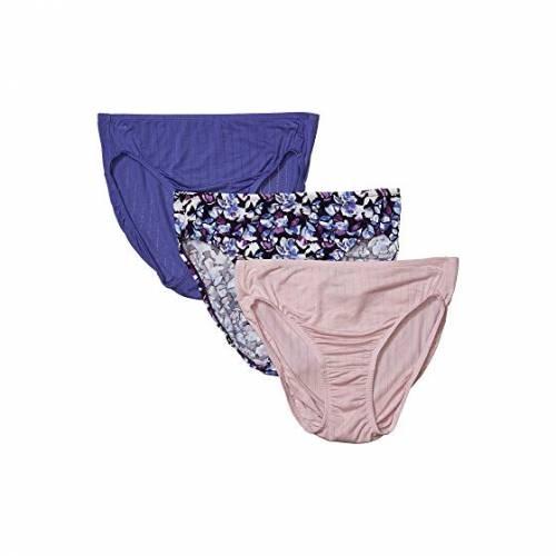 JOCKEY インナー 下着 ナイトウエア レディース 【 Supersoft Breathe French Cut Pack 】 Faded Mauve/moondance/crystalline Purple