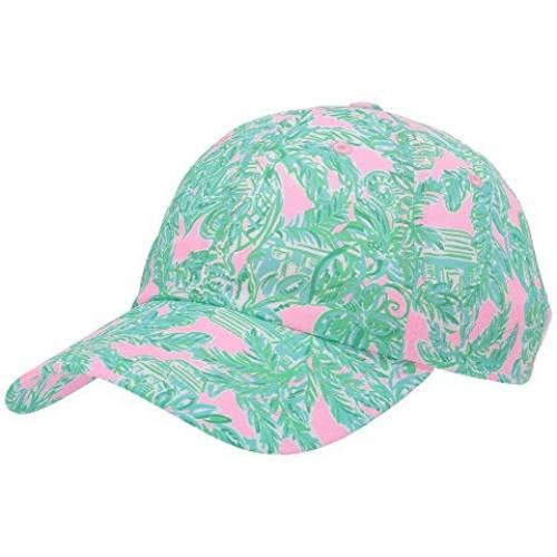 LILLY PULITZER ラン アラウンド ピンク 砂色 サンド 【 PINK RUN AROUND HAT MANDEVILLA BABY SAND PARADISE 】 バッグ キャップ 帽子 レディースキャップ