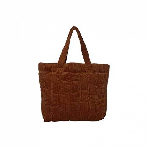 MADEWELL コーデュロイ バッグ レディース 【 Quilted Transport Tote In Corduroy 】 Dark Tobacco