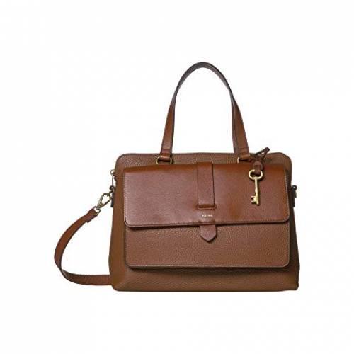 FOSSIL バッグ レディース 【 Kinley Satchel Handbag 】 Brown