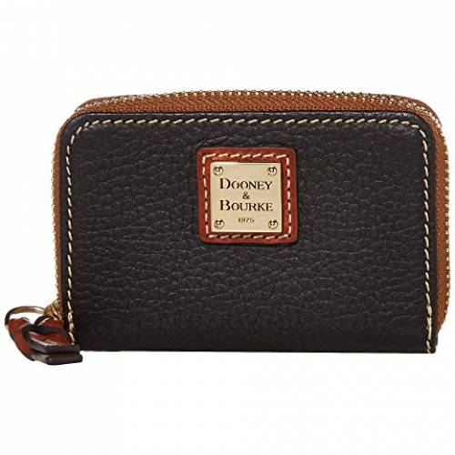 ドゥーニーアンドバーク DOONEY & BOURKE アラウンド ケース バッグ レディース 【 Pebble Zip Around Credit Card Case 】 Black/tan Trim