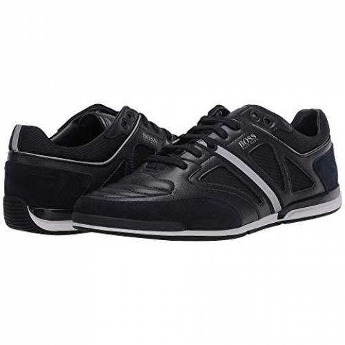 ボスヒューゴボス BOSS HUGO BOSS レザー スニーカー メンズ 【 Saturn Low Top Leather Sneaker By Boss 】 Dark Blue