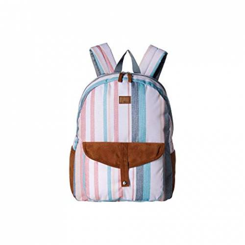 ROXY バックパック バッグ リュックサック レディース 【 Carribean Backpack 】 Snow White Retro Vertical