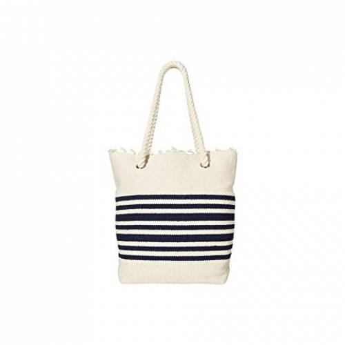 HAT ATTACK バッグ レディース 【 Rope Handle Tote 】 Natural/navy