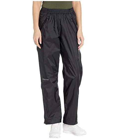 MARMOT 黒 ブラック PRECIP 【 BLACK MARMOT ECO FULL ZIP PANTS 】 レディースファッション ボトムス パンツ