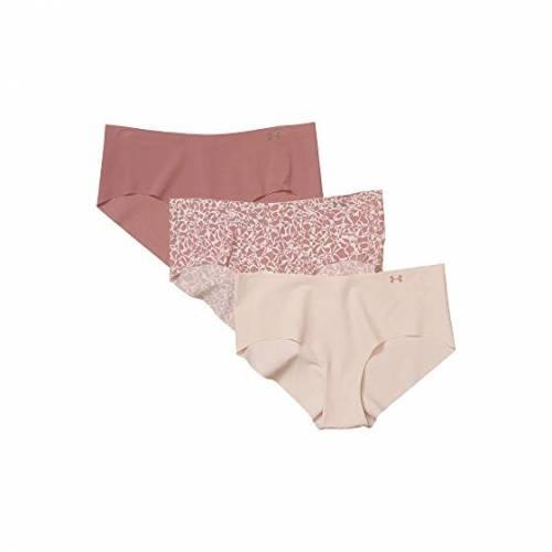 アンダーアーマー UNDER ARMOUR ピュア インナー 下着 ナイトウエア レディース 【 Pure Stretch Hipster 3-pack Print 】 Dash Pink/hushed Pink/hushed Pink