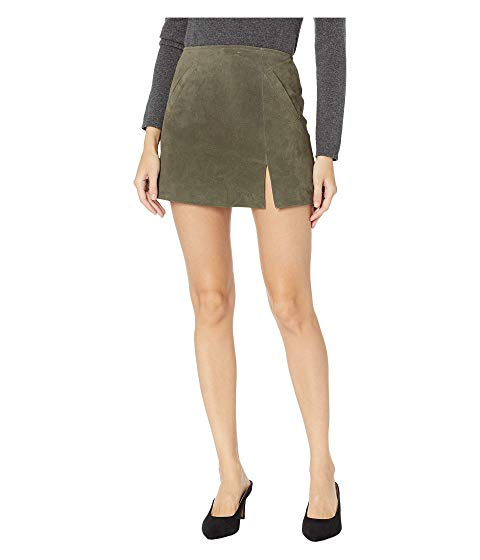 【海外限定】スエード スウェード レディースファッション スカート 【 SUEDE SKIRT W SIDE SLIT 】【送料無料】