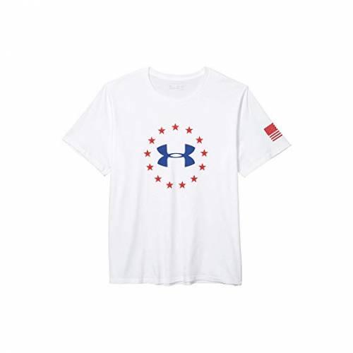 アンダーアーマー UNDER ARMOUR ロゴ Tシャツ 白 ホワイト 【 WHITE UNDER ARMOUR FREEDOM LOGO TEE ROYAL 】 メンズファッション トップス Tシャツ カットソー