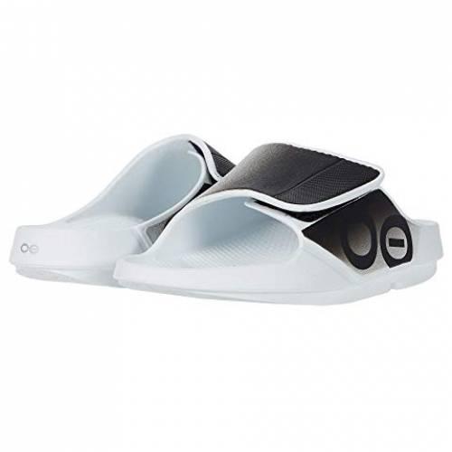 OOFOS スニーカー メンズ ユニセックス 【 Ooahh Sport Flex 】 White/black