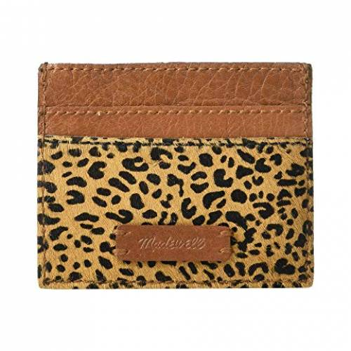MADEWELL レザー ケース バッグ レディース 【 Leather Card Case In Haircalf 】 Desert Dune Multi