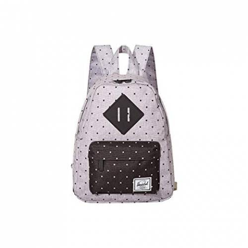 HERSCHEL SUPPLY CO. バッグ ユニセックス 【 Heritage Mini 】 Polka Dot Crosshatch Grey/black