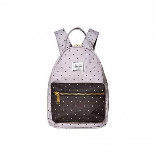 HERSCHEL SUPPLY CO. バッグ ユニセックス 【 Nova Mini 】 Polka Dot Crosshatch Grey/black