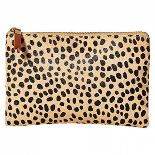 MADEWELL レザー バッグ レディース 【 Leather Pouch Clutch In Printed Haircalf 】 Sand Dune Multi