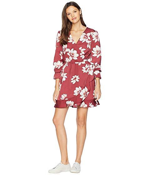 CUPCAKES AND CASHMERE ラップ ドレス レディースファッション ワンピース レディース 【 Jarrett Printed Wrap Dress 】 Earth Red