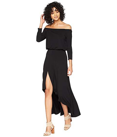 AMERICAN ROSE スリーブ ドレス レディースファッション ワンピース レディース 【 Kai 3/4 Sleeve Off The Shoulder Dress 】 Black