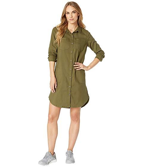 PRANA 【 YARROW DRESS CARGO GREEN 】 レディースファッション ワンピース 送料無料