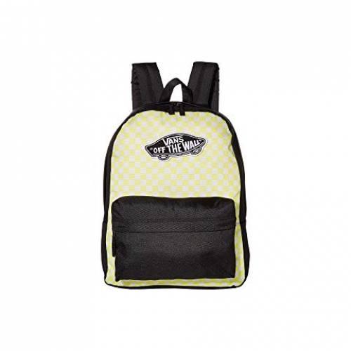 バンズ VANS バックパック バッグ リュックサック レディース 【 Realm Backpack 】 Lemon Tonic/checkerboard