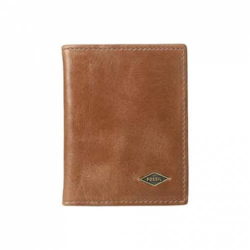 FOSSIL ケース バッグ メンズ 【 Ryan Rfid Card Case Bifold 】 Dark Brown 1