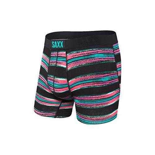 SAXX UNDERWEAR バイブ モダン インナー 下着 ナイトウエア メンズ 【 Vibe Boxer Modern Fit 】 Black Pulled Stripe