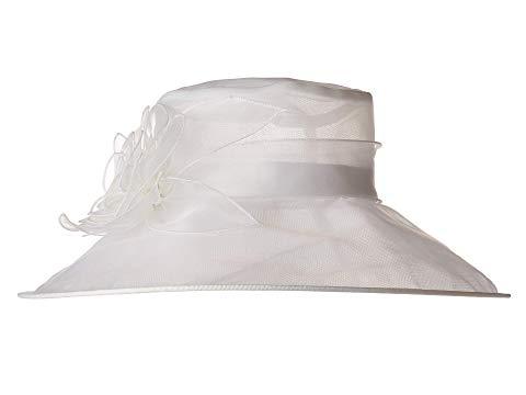 SAN DIEGO HAT COMPANY ドレス レディースファッション ワンピース レディース 【 Drs1020 Organza Dress Hat W/ Rosette 】 White