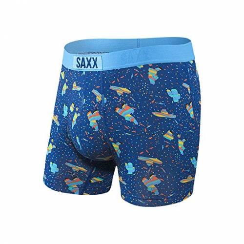 SAXX UNDERWEAR バイブ モダン インナー 下着 ナイトウエア メンズ 【 Vibe Boxer Modern Fit 】 Blue Pinata Bang