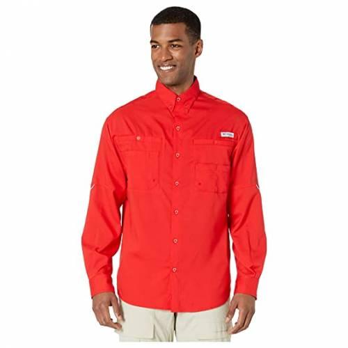 コロンビア COLUMBIA 長袖 ロングスリーブ 赤 レッド TAMIAMI・・ 【 RED COLUMBIA II L S SPARK 】 メンズファッション トップス Tシャツ カットソー