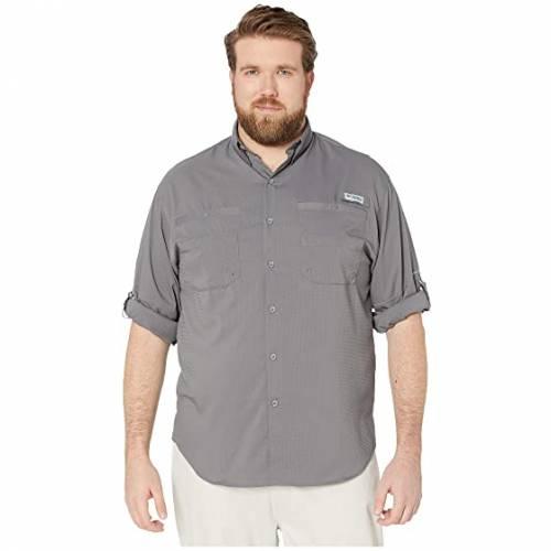 コロンビア COLUMBIA 長袖 ロングスリーブ Tamiami・・ メンズファッション トップス Tシャツ カットソー メンズ 【 Big And Tall Tamiami・・ Ii L/s 】 City Grey