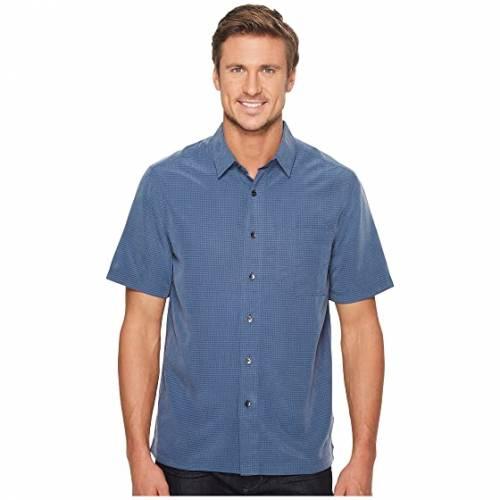 ROYAL ROBBINS 半袖 Tシャツ 青 ブルー 【 BLUE ROYAL ROBBINS DESERT PUCKER S COLLINS 】 メンズファッション トップス Tシャツ カットソー